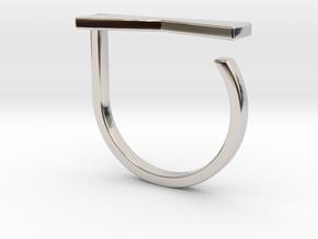 Adjustable ring. Basic model 12. in Rhodium Plated Brass