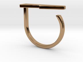 Adjustable ring. Basic model 13. in Polished Brass
