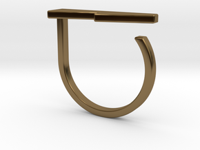 Adjustable ring. Basic model 13. in Polished Bronze