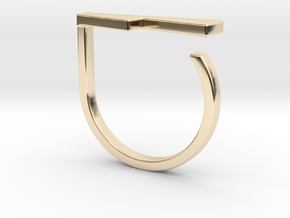 Adjustable ring. Basic model 14. in 14K Yellow Gold