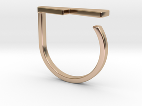 Adjustable ring. Basic model 14. in 14k Rose Gold Plated Brass