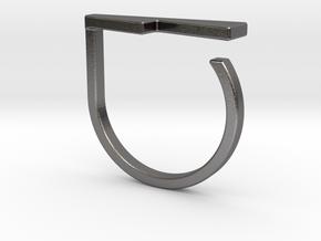 Adjustable ring. Basic model 14. in Polished Nickel Steel