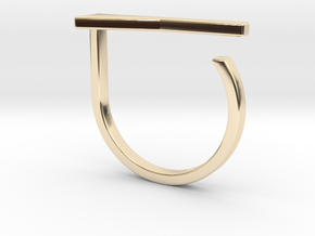 Adjustable ring. Basic model 15. in 14K Yellow Gold