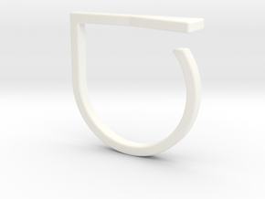 Adjustable ring. Basic model 16. in White Processed Versatile Plastic