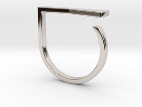 Adjustable ring. Basic model 16. in Rhodium Plated Brass