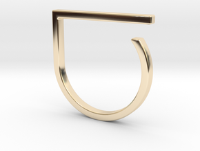 Adjustable ring. Basic model 0. in 14K Yellow Gold