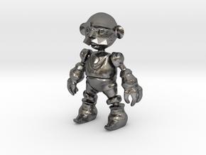 Clockwork Robot in Polished Nickel Steel