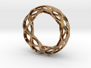 Loop braclet S/M in Polished Brass