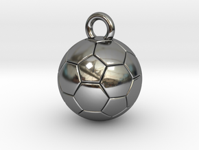 SOCCER BALL A in Fine Detail Polished Silver