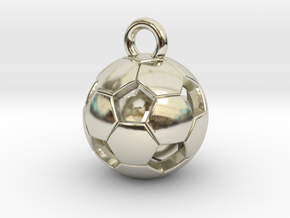 SOCCER BALL D in 14k White Gold