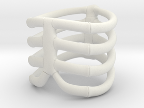 Thorsten 4 Rib - Ring - US 9 - 19 mm inside in White Strong & Flexible