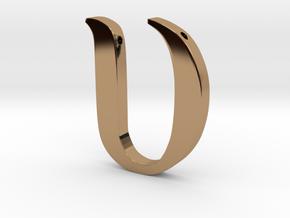 Upsilon in Polished Brass