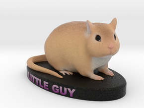 Custom Gerbil Figurine - Littleguy in Full Color Sandstone