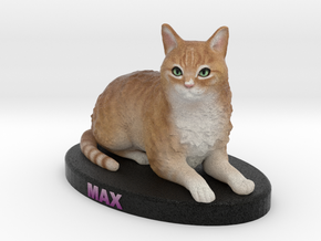 Custom Cat Figurine - Max in Full Color Sandstone