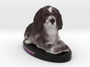 Custom Dog Figurine - Teddy in Full Color Sandstone