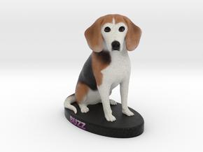 Custom Dog Figurine - Buzz in Full Color Sandstone
