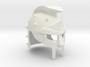 Maximus Gladiator Helmet in White Natural Versatile Plastic