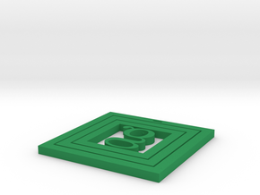 Coaster Square in Green Processed Versatile Plastic