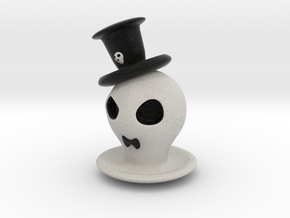Halloween Hollowed Figurine: GentlemanGhosty in Full Color Sandstone