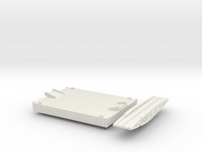 1/600 Intermediate Pontoon And Bridge in White Natural Versatile Plastic
