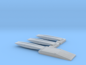 1/600 Mulberry Shore Ramp + 2 Off 25ft Bridges in Smooth Fine Detail Plastic