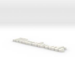 Mazdarati in White Natural Versatile Plastic