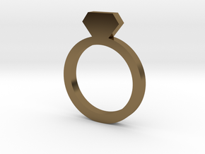 Placeholder Ring in Polished Bronze