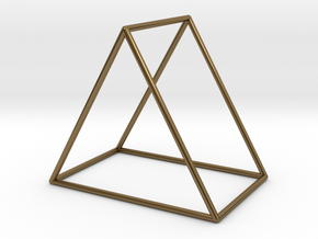 Triangle Bracelet - Medium in Polished Bronze