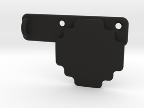 Contour Rotating Flat Surface Mount Supplement in Black Strong & Flexible