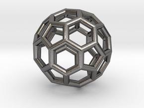 Soccerballbeadz in Polished Nickel Steel