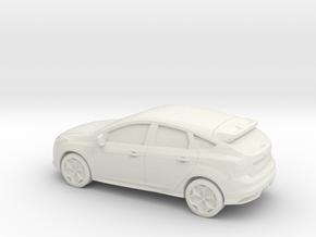 1/87 2012 Ford Focus  in White Natural Versatile Plastic