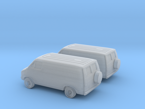 1/160 2X 1976 Dodge Van in Smooth Fine Detail Plastic