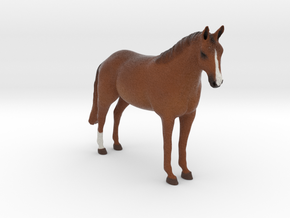 Custom Horse Figurine - Turbo in Full Color Sandstone
