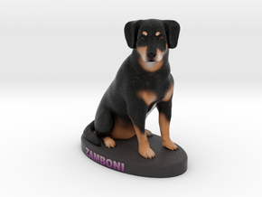 Custom Dog Figurine - Zamboni in Full Color Sandstone