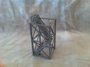 'N Scale' - 10'x10'x20' Tower With Stairs in Smooth Fine Detail Plastic