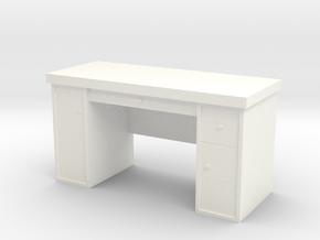 1:35 Scale Desk  in White Processed Versatile Plastic