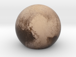 Pluto Sphere Large in Full Color Sandstone