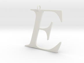 E in White Natural Versatile Plastic