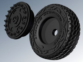 1-87 Pro-Comp Tires For MB G63 AMG 6x6 in Smooth Fine Detail Plastic