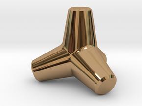 Tetrapod in Polished Brass