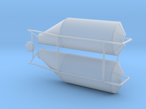 Grain Bin, Offset Funnel (HO 1:87) in Smooth Fine Detail Plastic