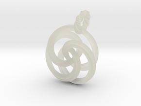 pendant twirl in Transparent Acrylic