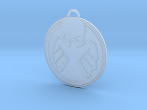 Shield Hydra Pendant in Smooth Fine Detail Plastic