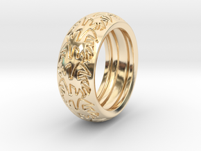 Ray B. - Tire Ring in 14k Gold Plated Brass: 9 / 59