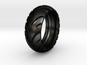 Ray Zing Hollow - Ring - US 9 - 19 mm inside in Matte Black Steel