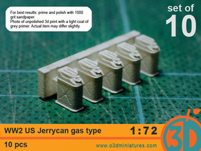 WW2 US gas Jerricans 1/72 scale pack of 10 in Frosted Ultra Detail