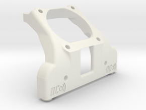 B5M 30mm FAN CHASSIS BRACE (waterfall) in White Natural Versatile Plastic