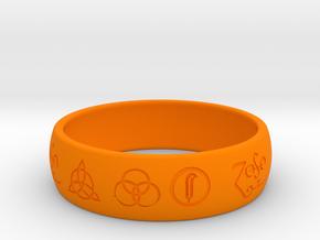 Size 10 FOUR SYMBOLS A  in Orange Processed Versatile Plastic