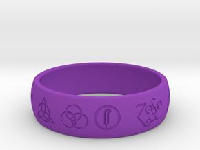 Size 12 FOUR SYMBOLS A  in Purple Processed Versatile Plastic