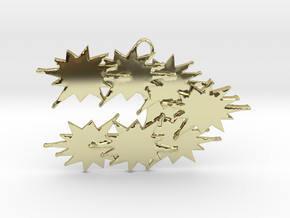 Stars Stream Conglomerating , Pendant. in 18k Gold Plated
